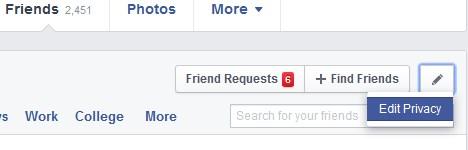 edit privacy daftar teman facebook