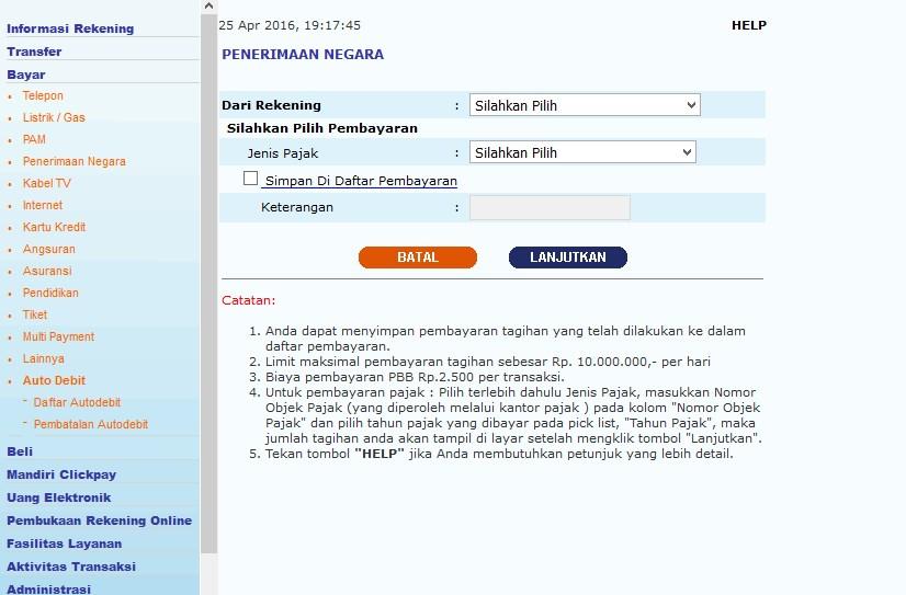 bayar pbb online