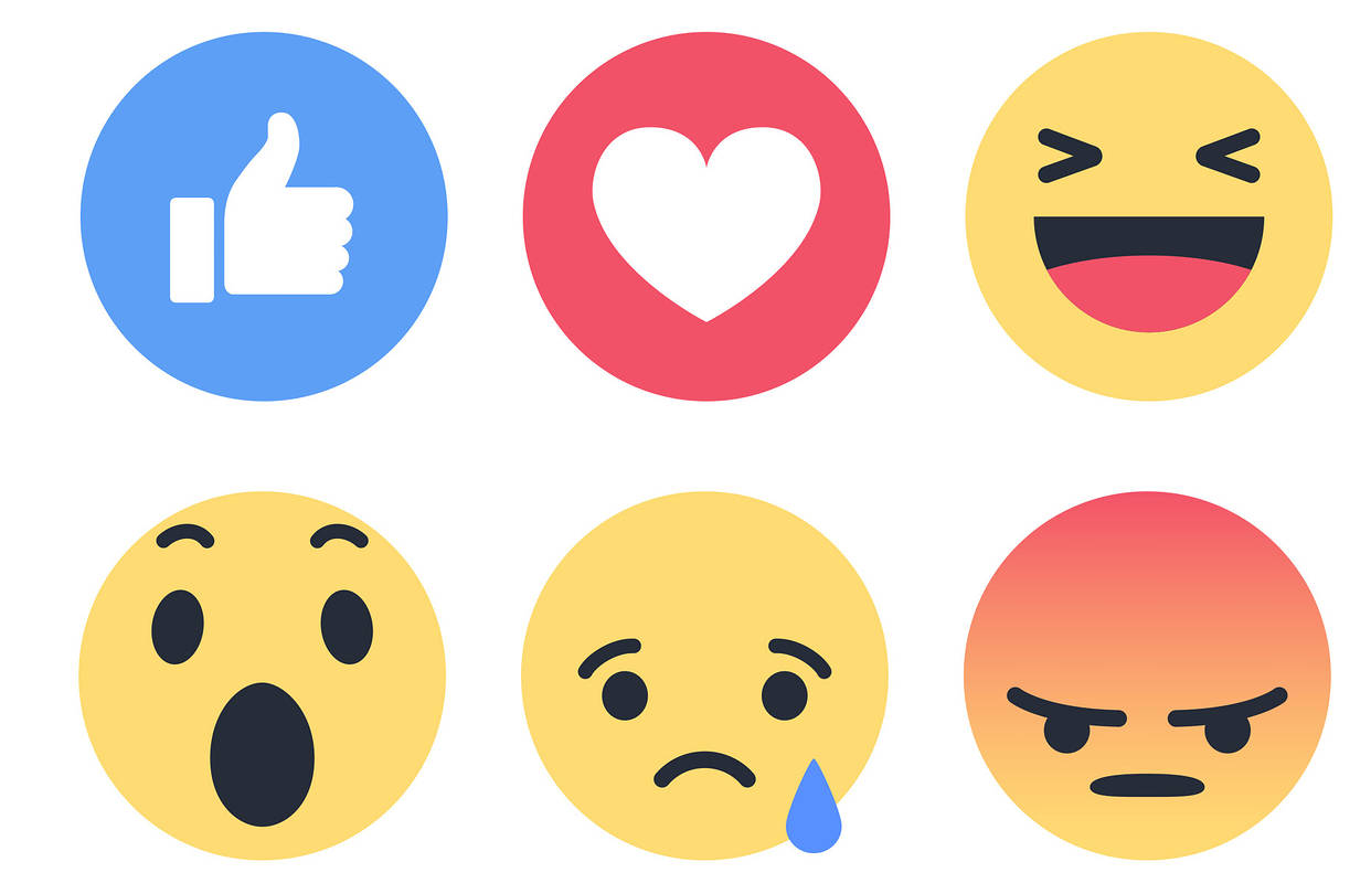 reaksi di status facebook